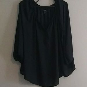 Plus size sheer blouse 3x